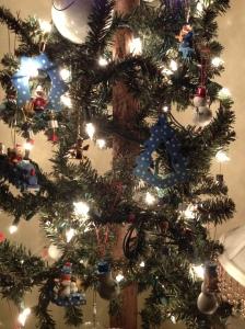 Snowman tree in guest room.
