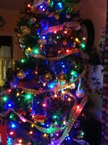 Family room - full of all our collected ornaments - both old and new!