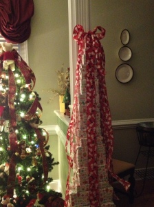 Bear tree with present tower..