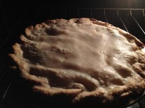 Pot pie baking..