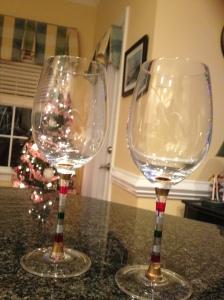 Christmas wine glasses!