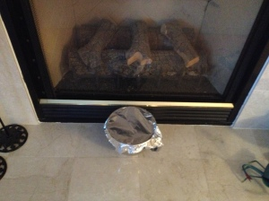 I always put my dough in front of the fireplace to rise!!