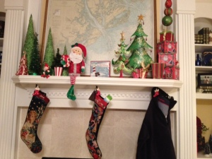 And the stockings were hung by the chimney with care..