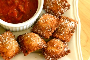 Yes such a St Louis tradition, toasted ravioli!