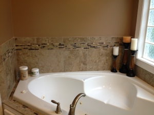 The tub surround