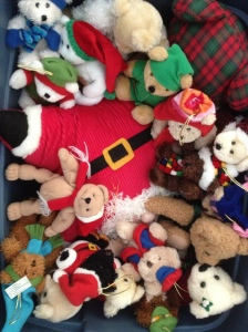 All the bears from the bear tree - packed up til next year!